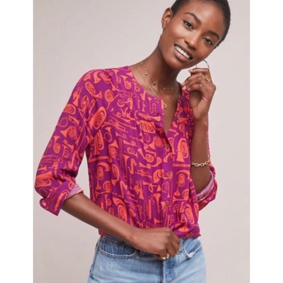 Anthropologie Tops - Anthropologie Conversations Button Down instrument
